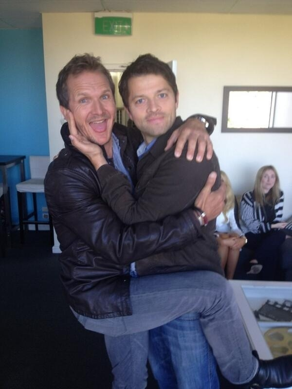 Photo of Sebastian Roché & his friend  Rob Benedict - Paris
